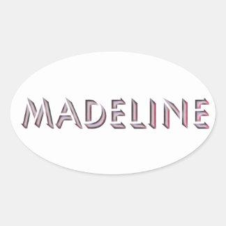Madeline-Aufkleber Ovaler Aufkleber