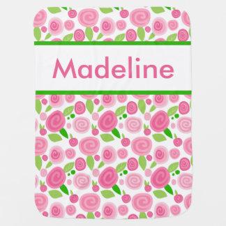 Madeline personalisierte Rosen-Decke Babydecke
