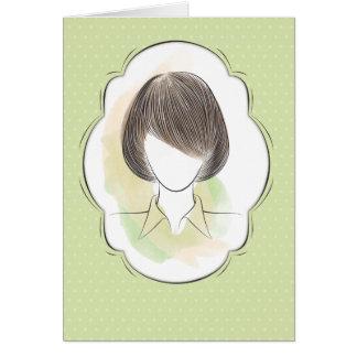 Madeline - Porträt einer Frau Karte