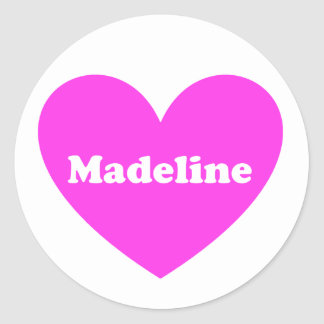 Madeline Runder Aufkleber