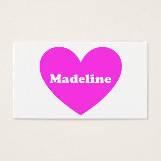 Madeline Visitenkarte