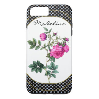 Madelines Rosen-hübsches Blumenmonogramm iPhone 8 Plus/7 Plus Hülle