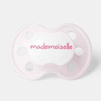Mademoiselle - niedlicher Franzose-Zitat-Schnuller Schnuller