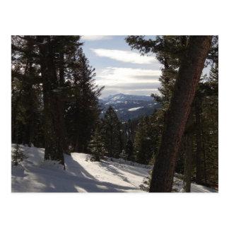 Madison-Berge im Winter in Montana Postkarte