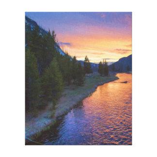Madison-Fluss-Sonnenuntergang Leinwanddruck