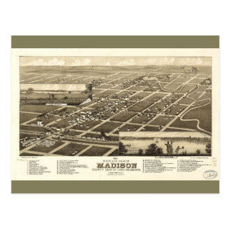 Madison Lake County South Dakota (1883) Postkarte