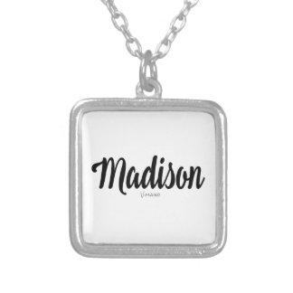 Madison-Namenspersonalisiertes durch VIMAGO Versilberte Kette