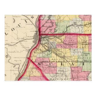 Madison, St. Clair, Monroe-Landkreise Postkarte