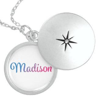 Madison stilvoller Cursive Medaillon