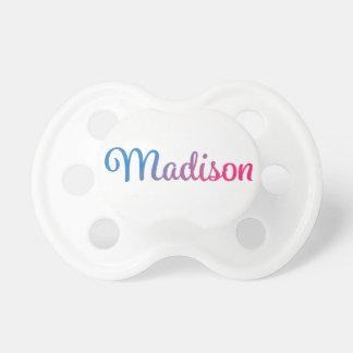 Madison stilvoller Cursive Schnuller
