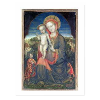 Madonna der Bescheidenheit verehrt von Leonello Postkarte