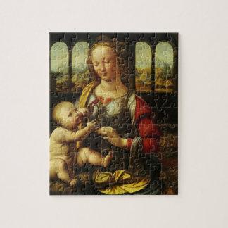 Madonna der Gartennelke durch Leonardo da Vinci Puzzle