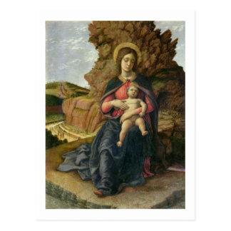 Madonna der Höhle, 1488-90 (Tempera auf Platte) Postkarte