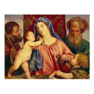 Madonna der Kirschen mit Joseph Postkarte