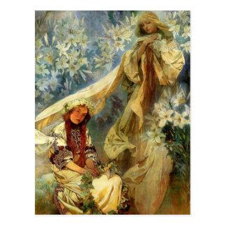 Madonna der Lilien 1905 Postkarte