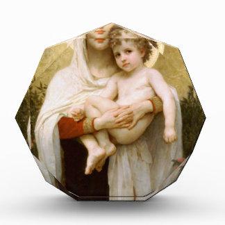 Madonna der Rosen und des Säuglings-Kindes Jesus Acryl Auszeichnung