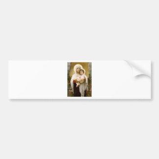 Madonna der Rosen und des Säuglings-Kindes Jesus Autoaufkleber