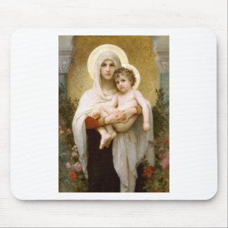Madonna der Rosen und des Säuglings-Kindes Jesus Mousepad