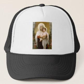 Madonna der Rosen und des Säuglings-Kindes Jesus Truckerkappe