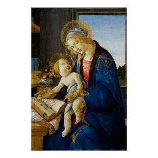 Madonna des Buches durch Botticelli Poster