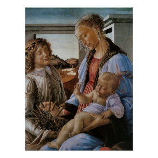Madonna des heiligen Abendmahl durch Botticelli Poster