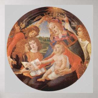 Madonna des Magnificat, Botticelli, Renaissance Poster