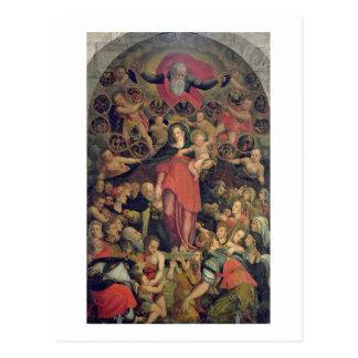 Madonna des Rosenbeetes, c.1569 (Öl auf Leinwand) Postkarte