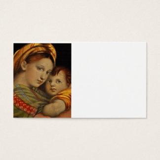 Madonna des Stuhls Visitenkarte