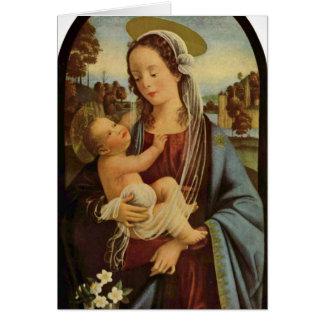 Madonna durch Domenico Ghirlandaio Grußkarte