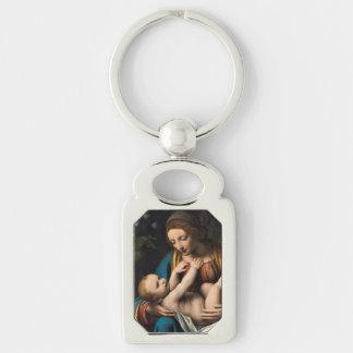 Madonna-MED Kristusbarnet Schlüsselanhänger