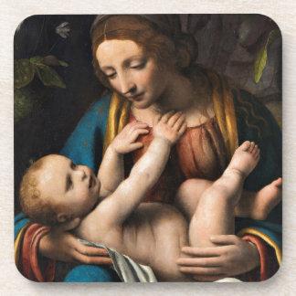 Madonna-MED Kristusbarnet Untersetzer