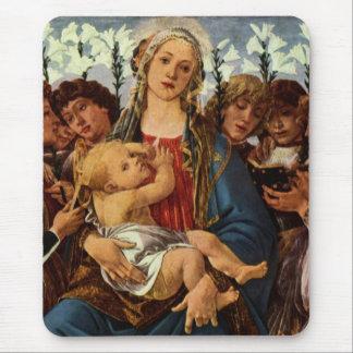 Madonna mit acht Engeln singend Mousepad