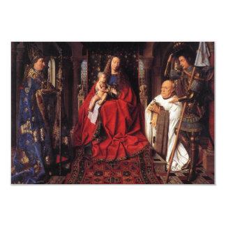 Madonna mit Canon van Der Paele, Jan van Eyck 8,9 X 12,7 Cm Einladungskarte