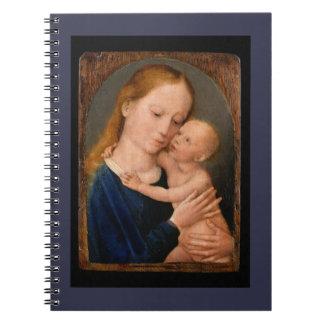 Madonna mit Christus-Kind Spiral Notizblock