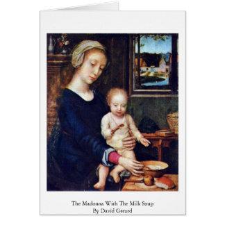 Madonna mit der Milch-Suppe durch David Gerard Karte