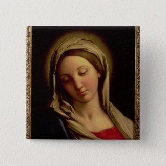 Madonna Quadratischer Button 5,1 Cm