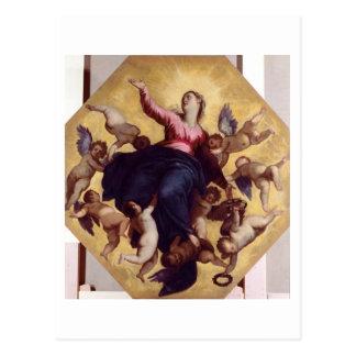 Madonna trug durch Engel (Deckenfresko) Postkarte