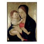 Madonna und Kind, c.1475 Postkarte
