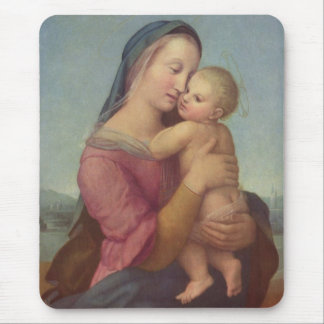 Madonna und Kind (die Tempi Madonna) durch RAPHAEL Mousepad