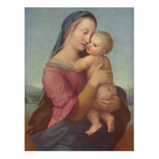 Madonna und Kind (die Tempi Madonna) durch RAPHAEL Postkarte