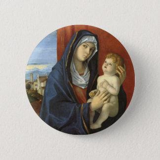Madonna und Kind durch Giovanni Bellini Runder Button 5,1 Cm