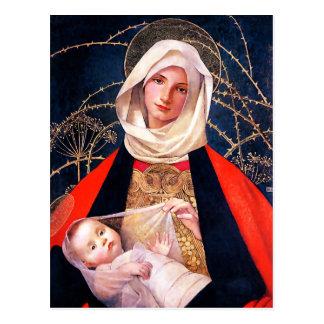 Madonna und Kind. Kunst-Weihnachtspostkarten Postkarte