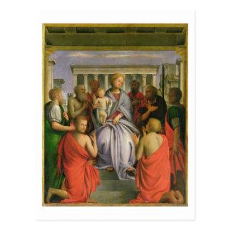 Madonna und Kind mit acht Heiligen, 1520s Postkarte