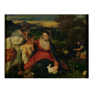 Madonna und Kind mit St. Catherine C. 1530 Postkarte