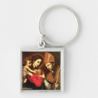 Madonna und Kind mit St. Zenobius Schlüsselanhänger
