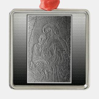 Madonna und Kind Silbernes Ornament