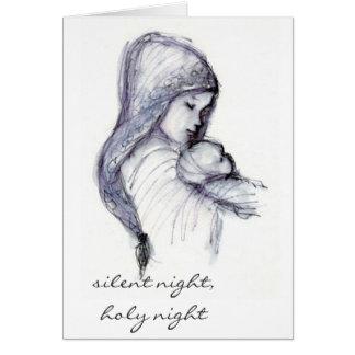 Madonna und Kind, stille Nacht, heilige Nacht Karte