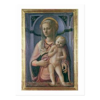 Madonna und Kind (Tempera auf Platte) Postkarte