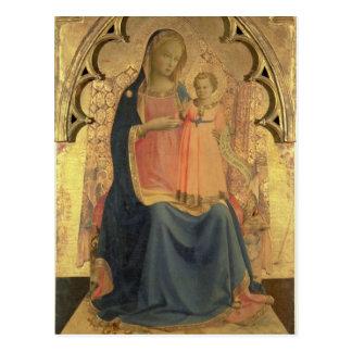 Madonna und Kind, zentrale Platte eines Postkarte