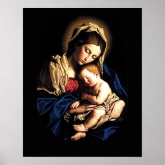 Madonna und Kindergewohnheits-Plakat